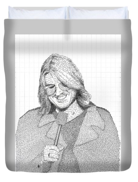 Mitch Hedberg In His Own Jokes Duvet Cover by Phil Vance