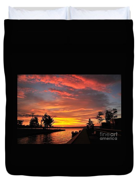 Mitchell State Park Cadillac Michigan Duvet Cover by Terri Gostola