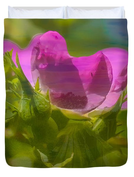 Duvet Cover featuring the photograph mix by Leif Sohlman