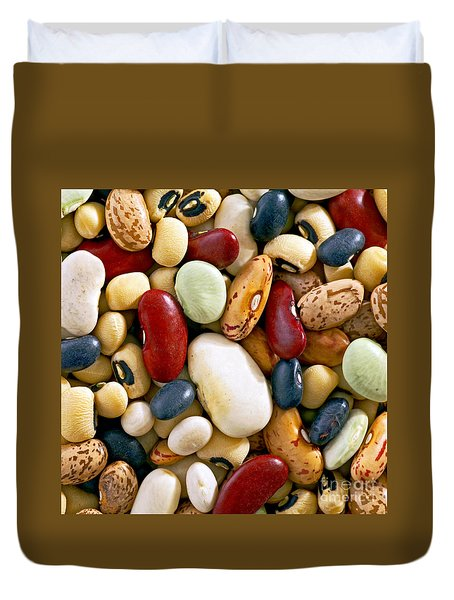 Duvet Cover featuring the photograph Mixed Beans by Craig B