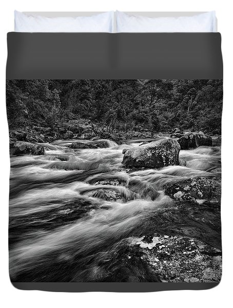 Mixed Emotions Duvet Cover by Mark Lucey