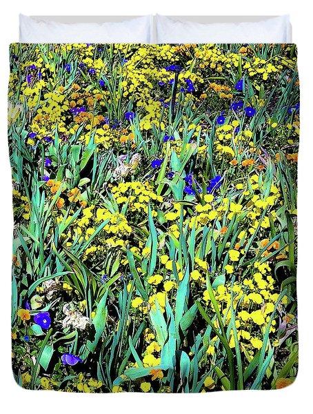 Duvet Cover featuring the photograph Mixed Flower Garden 515 by D Davila