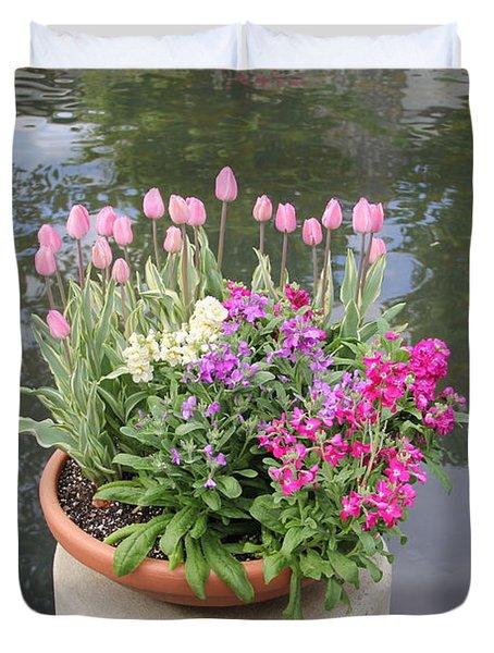Mixed Flower Planter Duvet Cover
