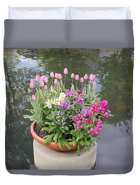 Mixed Flower Planter Duvet Cover