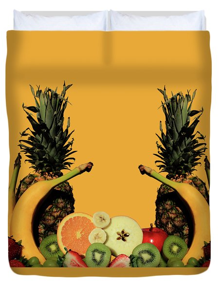 Duvet Cover featuring the photograph Mixed Fruits by Shane Bechler