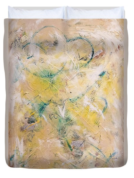 Mixed-media Free Fall Duvet Cover
