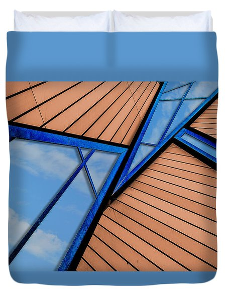 Duvet Cover featuring the photograph Mixed Perspective by Paul Wear