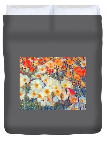 Mixed Poppies Duvet Cover