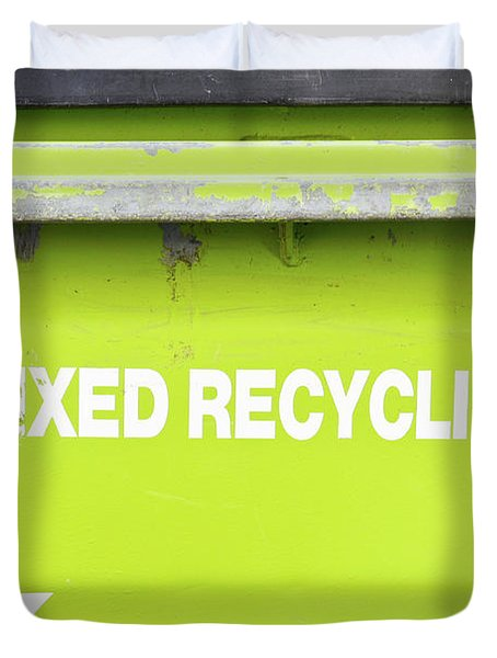 Mixed Recycling Bin Duvet Cover