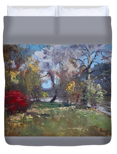 Mixed Weather In A Fall Afternoon Duvet Cover