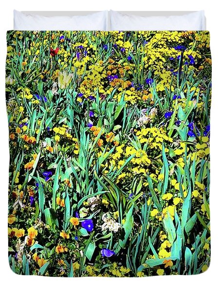 Mixed Wildflowers In Texas Duvet Cover