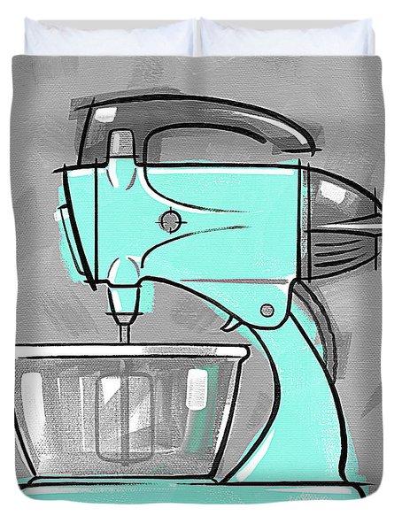 Mixer Aqua Duvet Cover