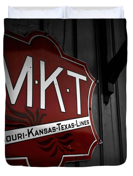 Mkt Railroad Lines Duvet Cover