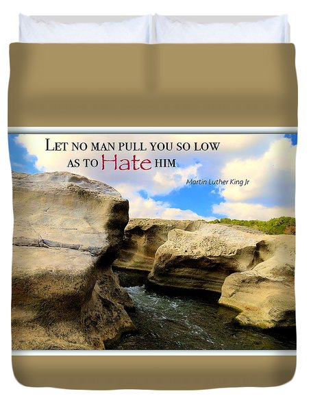 Duvet Cover featuring the photograph Mlk 1 by David Norman