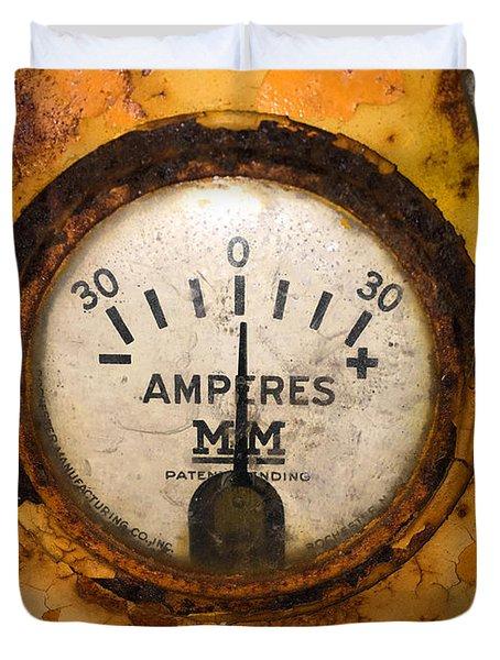 Mm Amperes Gauge Duvet Cover