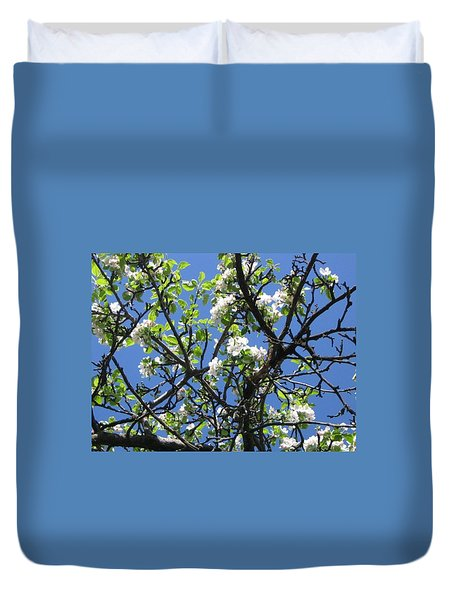 Mn Apple Blossoms Duvet Cover
