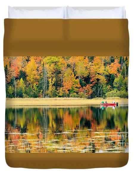 Mn Fall Fishing Duvet Cover