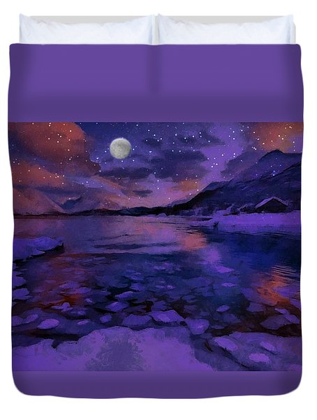 Mnon Over The Frozen Lands Duvet Cover
