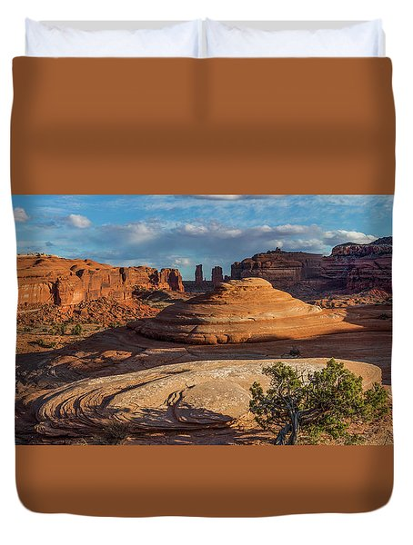 Moab Back Country Panorama Duvet Cover