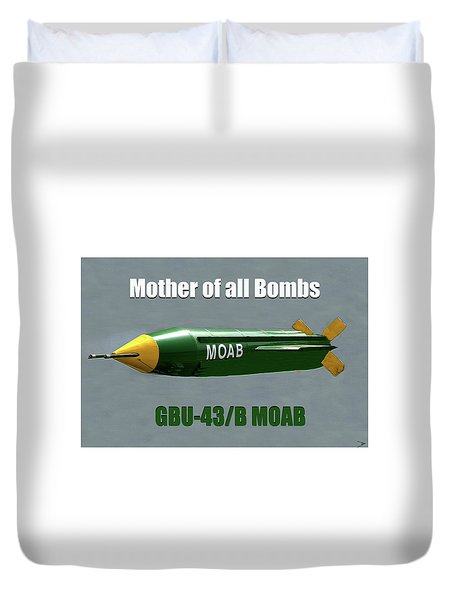 Duvet Cover featuring the painting Moab Gbu-43/b by David Lee Thompson