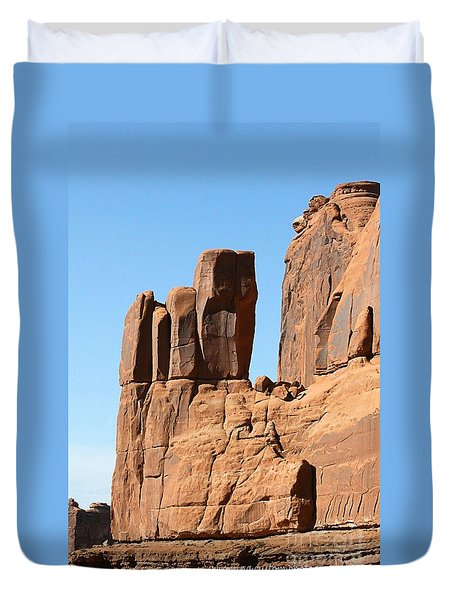 Moab Rocks Duvet Cover