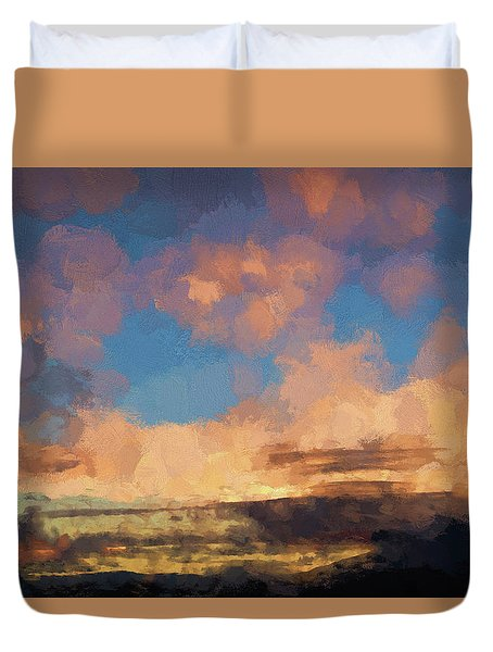 Moab Sunrise Abstract Painterly Duvet Cover