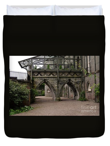 Moat At Inveraray Castle In Argyll Duvet Cover