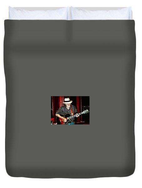 Moby Grape Man Jerry Miller Duvet Cover by Sadie Reneau