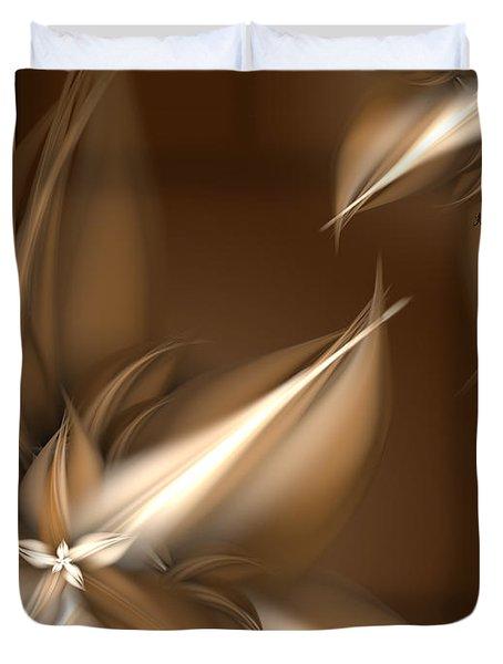 Mocha Cream Swirl Duvet Cover