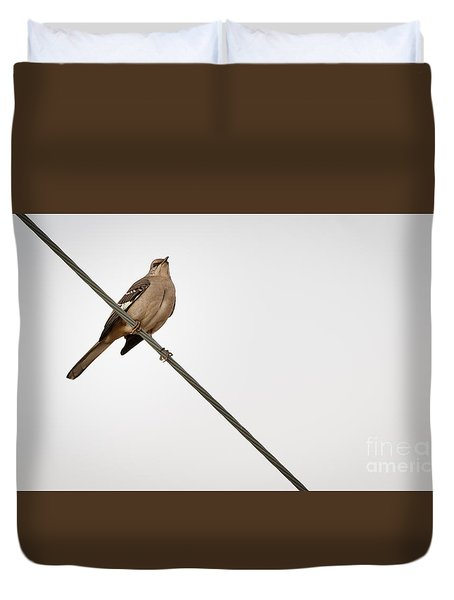 Mockingbird At Rest Duvet Cover