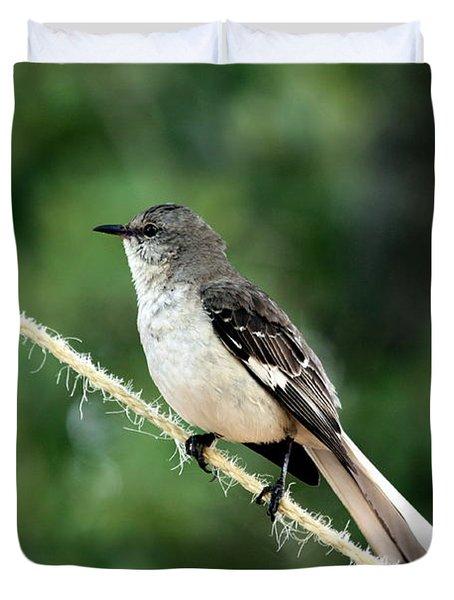 Mockingbird On Rope Duvet Cover