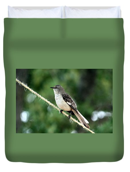 Mockingbird On Rope Duvet Cover