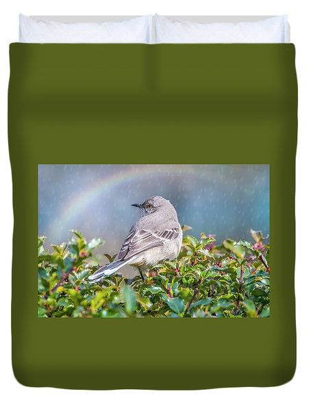 Mockingbird Rainbow Duvet Cover