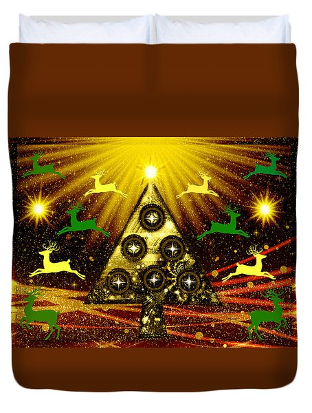 Mod Cards - Christmas Tree Magic Vi Duvet Cover