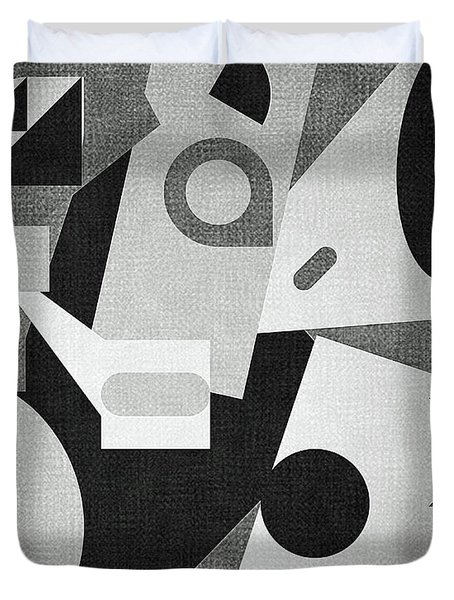 Mod, Grayscale Duvet Cover