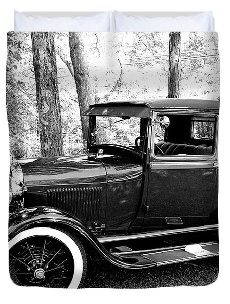 Model A In Black And White Duvet Cover