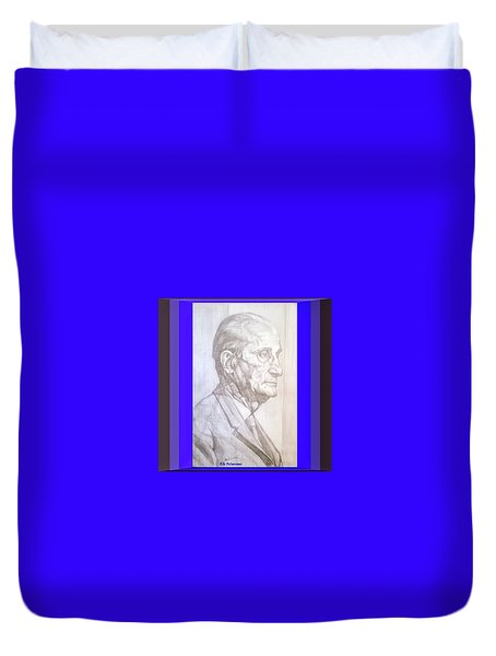 Duvet Cover featuring the photograph Model Framed by Elly Potamianos