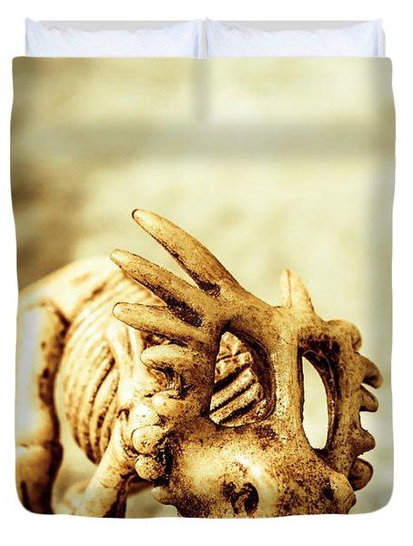 Model Styracosaurus Skeleton Duvet Cover