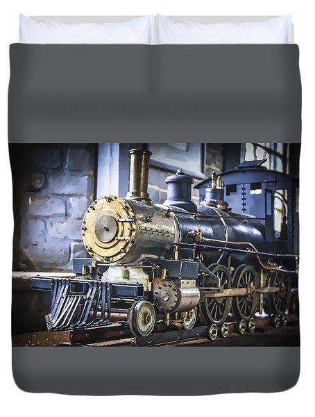 Model Train Duvet Cover by Scott Hansen