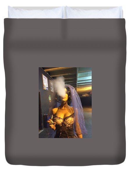 Duvet Cover featuring the photograph Model Vaper by Lisa Piper