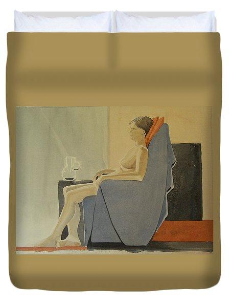 Modell Akvarell 2013 06 15-16 133 Duvet Cover
