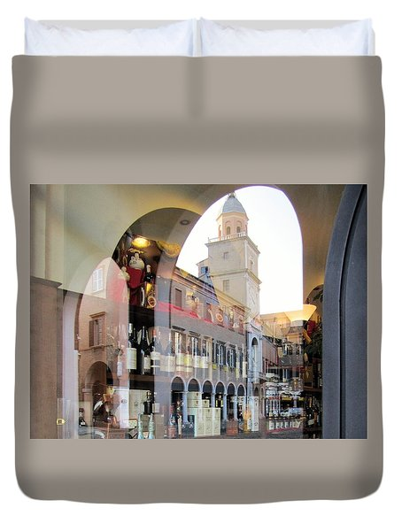 Duvet Cover featuring the photograph Modena, Italy by Travel Pics