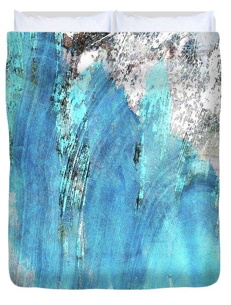 Modern Abstract Art - Blue Essence - Sharon Cummings Duvet Cover