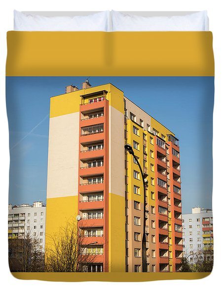 Duvet Cover featuring the photograph Modern Apartment Buildings by Juli Scalzi