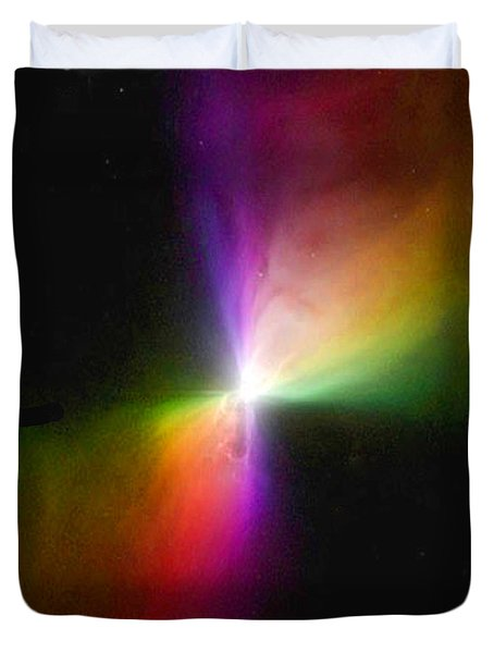 Modern Art- The Boomerang Nebula - Heavenly Bodies Duvet Cover