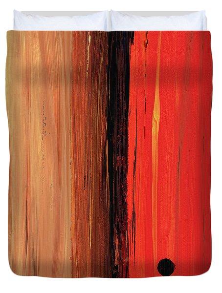 Modern Art - The Power Of One Panel 1 - Sharon Cummings Duvet Cover by Sharon Cummings