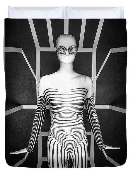 Modern Black And White Duvet Cover by Scott Meyer