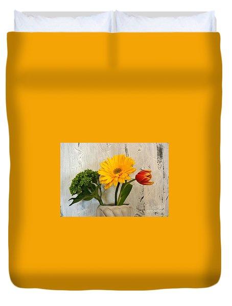 Duvet Cover featuring the photograph Modern Bouquet by Marsha Heiken