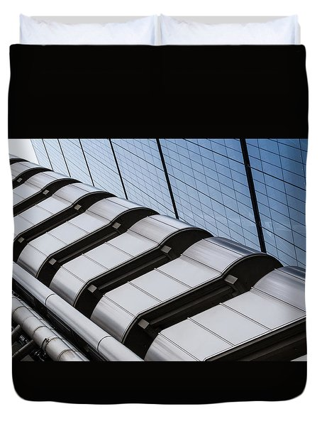Lloyds Building Bank In London Duvet Cover by John Williams