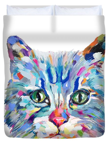 Modern Cat Duvet Cover